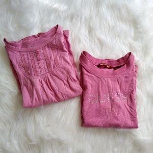Toddler Girl's Short Sleeve Shirt Bundle